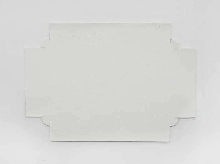 ホワイトレザー:トレイの表面