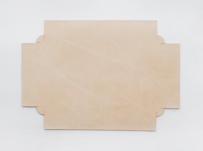 ヌメ革タンロー:トレイの表面