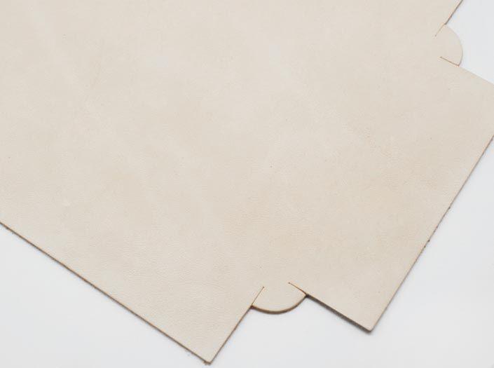 ヌメ革タンロー:トレイのディテール