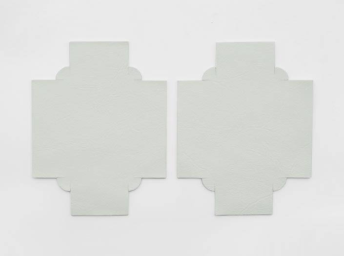 ホワイトレザー:トレイ(小)の表面