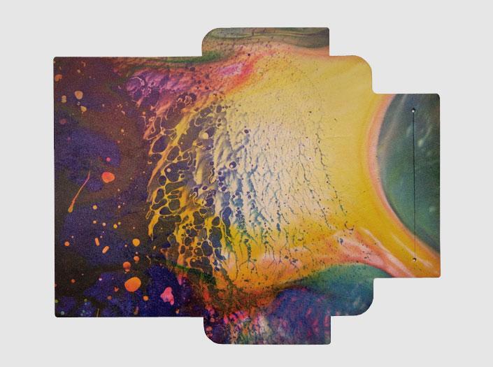 AOHPAの長財布のUVプリントのイメージ