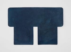 製品ムラ染めネイビーブルー:札ケース(二つ折り財布)