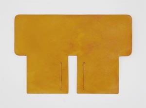 製品染めイエロー:札ケース(二つ折り財布)