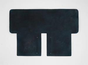 製品染めスペースブルー:札ケース(二つ折り財布)