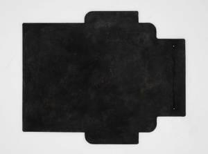 スクラッチ加工×ブラック:札ケース(長財布)