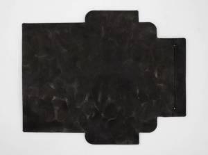 凸凹パターン×ブラック:札ケース(長財布)