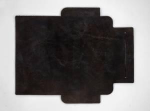製品ムラ染めダークブラウン+ワックス仕上げ:札ケース(長財布)